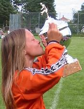 Jentelaget tok pokalen i Grimstad sist sommer